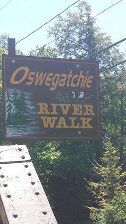 Oswegatchie River Walk.