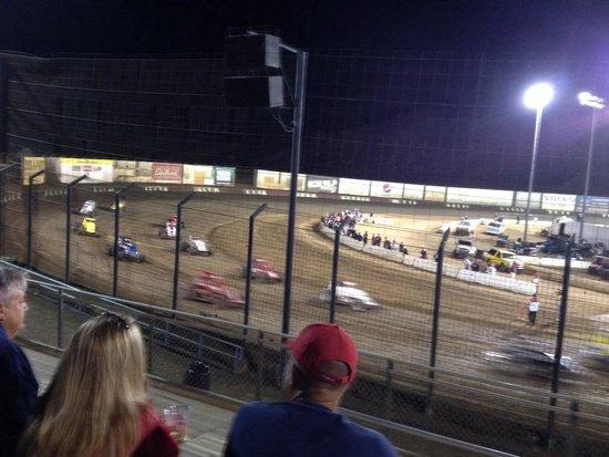 Perris Auto Speedway: Fourth corner.