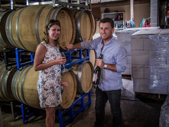 Sustainable Vine Wine Tours : Scott (co owner) and a happy customer