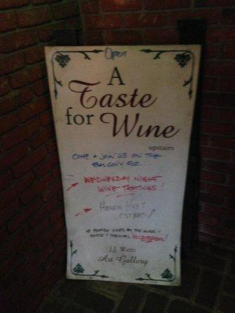A Taste for Wine