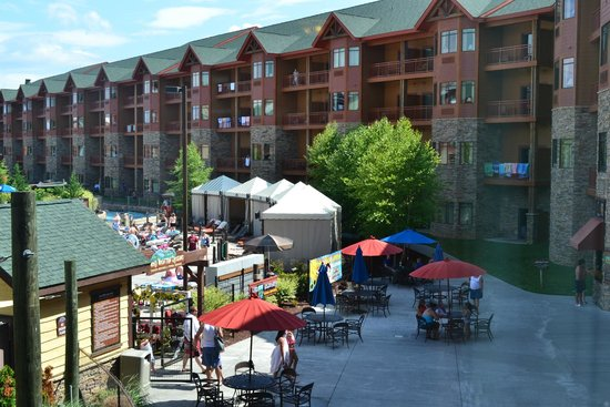 Wilderness at the Smokies Resort: View from room