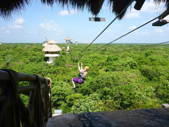Luxury Bahia Principe Akumal Don Pablo Collection : Zip lining at Xplor