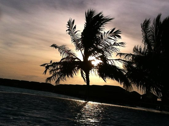Vilamendhoo Island Resort & Spa : Sunset at the infinity pool! Adults only zone
