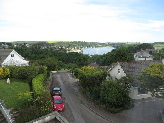 Little Newton Bed & Breakfast: La super vue sur la baie de St Mawes, depuis la chambre :-)