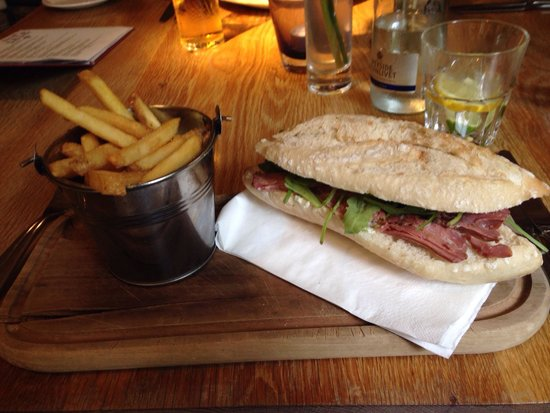 The Fox Hounds Harlestone Salt Beef Sandwich