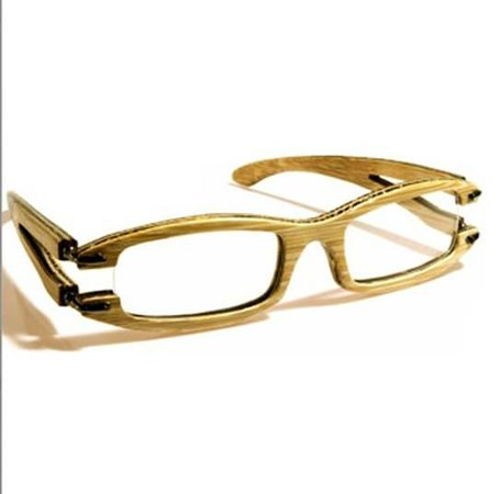 Weil Art Gallery: Gafas con lente neutro y marco de madera - Disponible en Weil Art