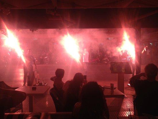 Down Town Cafe Bar: Greece winning football