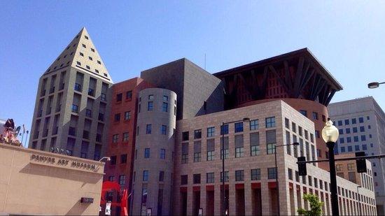 Denver Art Museum : Part if the view.