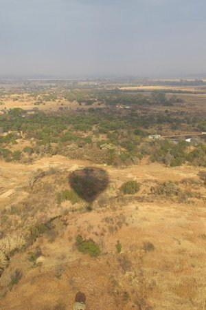 Bill Harrop's Original Balloon Safaris: The view and shadow