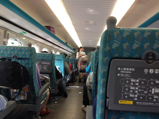 Taiwan High Speed Rail Taichung Station: Inside a typical HSR carriage