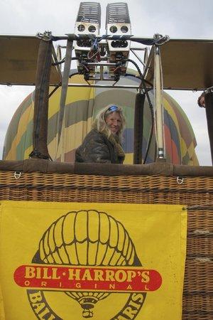 Bill Harrop's Original Balloon Safaris: Tracey! Just after landing