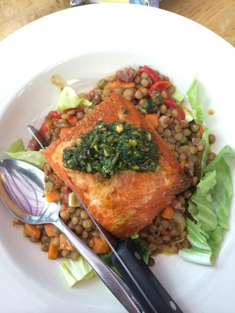 Gathering Together Farm: Salmon on Bed of Lentils
