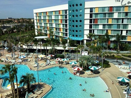 Universal's Cabana Bay Beach Resort : View from room showing Continental section next door