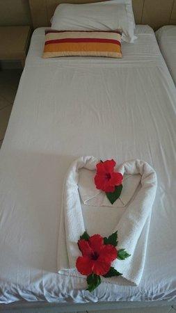 Thalassa Sousse Resort & Aquapark: dekoracja łóżka