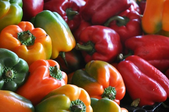 Cookin' Vallarta: Colorful peppers on our market tour