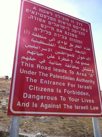 Green Olive Tours: Israel Warning Sign