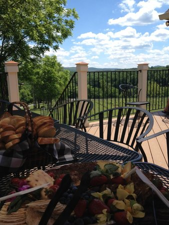 Cana Vineyards and Winery: food spread and the view