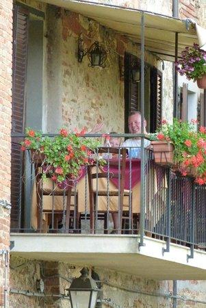 Albergo Ristorante Masolino: the balcony