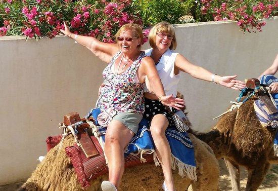 Concorde Hotel Marco Polo: Having fun on the camel trip.