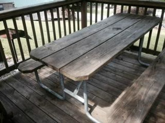 Tremont Outdoor Resort: picnic table/deck for SC 10