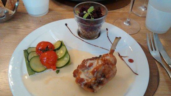 Le Dejeuner sur l'Herbe: cuisse de lapin