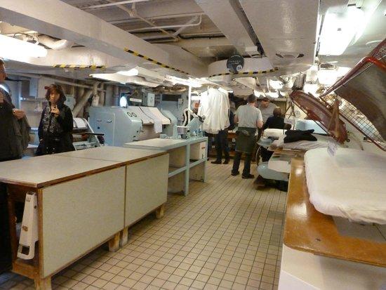 Royal Yacht Britannia: Laundry for crew