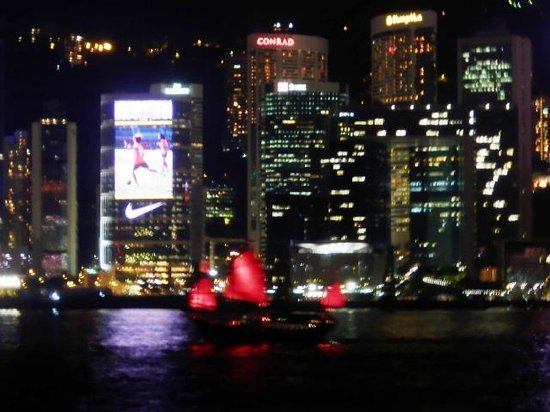Victoria Harbour: ライトショーが始まる直前