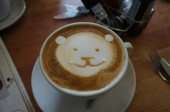 The Beached Lamb Cafe : Coffee art
