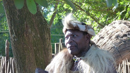 Gooderson DumaZulu Lodge and Traditional Zulu Village: Being Welcomed at the Gate by the Chief