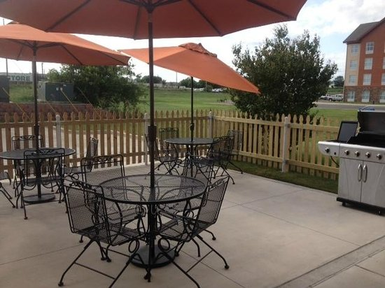 Sleep Inn & Suites: Our patio and grill is open daily for guest use.
