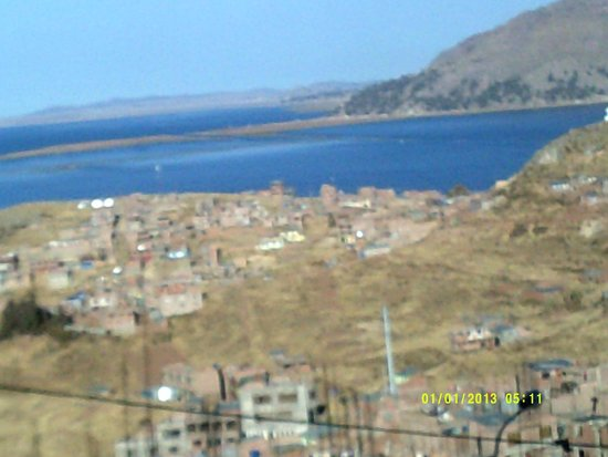 Hotel Jose Antonio Puno: Lake Titicaca with mountains in background