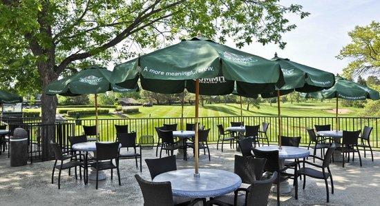 Madden's on Gull Lake: Golf Club House patio & view, Madden's Resort on Gull Lake, Brainerd MN
