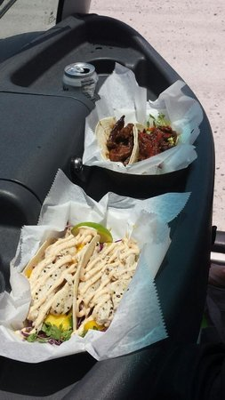 Garbo's Grill: Fish tacos and Korean Beef tacos
