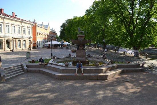 Stadtbibliothek Turku: Фонтан у библиотеки