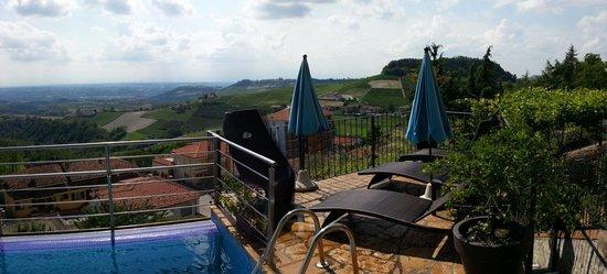 Da Felicin: Blick von der Pool-Terrasse