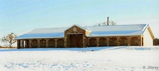 Nocona, TX: Tales 'n' Trails Museum in the snow.