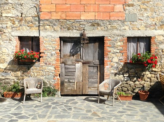 La Luna di Quarazzana: Flowers in the courtyard