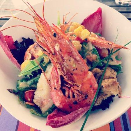 Le Pradeau plage : La salade des îles.