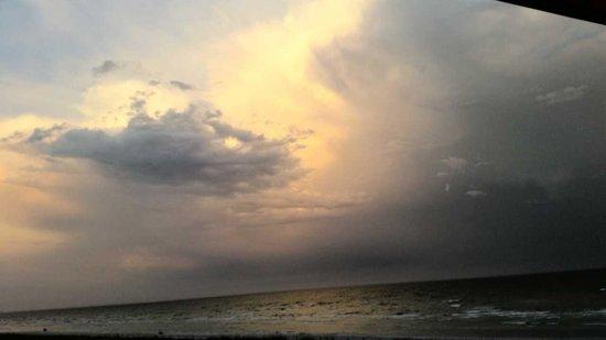 Ocean's Reach Condominiums: Storm moving in