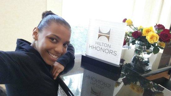 Hilton Naples: Me at Front desk