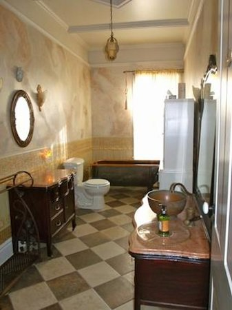 the dusty victorian bed and breakfast victorian style bathroom with antique copper bathtub