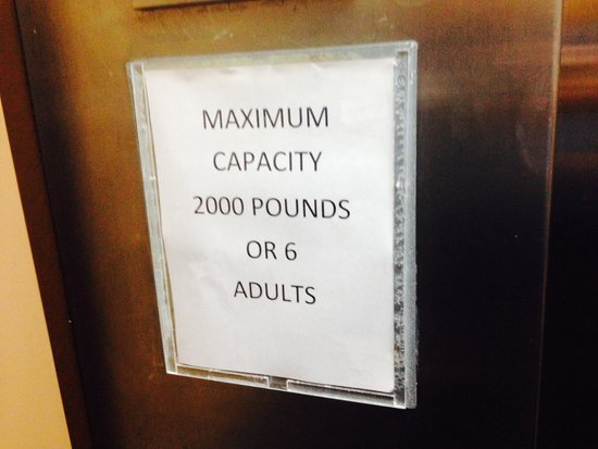 Quality Inn & Suites Fort Bragg : Sign in Elevator- Too funny! It's for real!