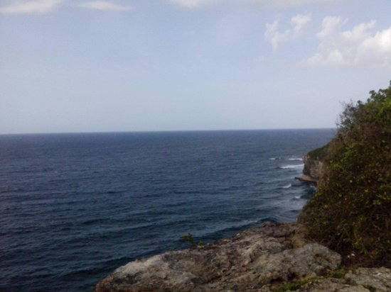 Quebradillas, Porto Rico: One of the views of the merenderos.