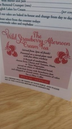 The Wild Strawberry: afternoon tea