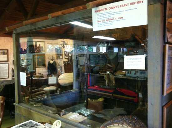 Stephenson Island Logging Museum: Historical Display Related to Queen Marinette