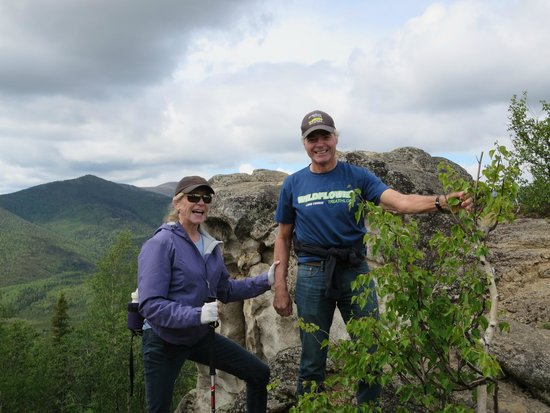 Alaska-Wildlife-Guide - Day Tours: My husband and I at the top of Angel Rock
