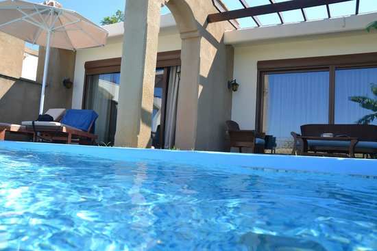 Atrium Palace Thalasso Spa Resort & Villas : наш бассейн на вилле.
