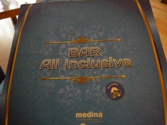 Hotel Diar Lemdina : меню