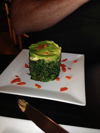 Stanford Inn by the Sea: Kale stack