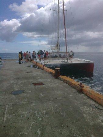 Rendezvous Resort: The catamaran